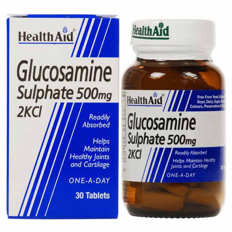 Health aid Glucosamine Sulphate Ταμπλέτες για την αναδόμηση των αρθρώσεων Allpharmacy Overespa