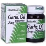 Health aid garlic oil 2mg 30caps Κάψουλες για τη ρύθμιση της πίεσης του αίματος - allpharmacy overespa