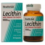 Health aid lecithin with coq10 1000mg and vit e 30 caps Αποτοξινωτικές κάψουλες με συνένζυμο Q10- allpharmacy overespa
