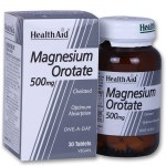 Health aid magnesium orotate 500mg 30tabs - allpharmacy overespa