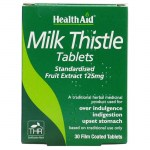 Health aid Milk Thistle Seed Extract 30 tablets Φυτοθεραπεία με ταμπλέτες που προστατεύουν το ήπαρ Allpharmacy Overespa