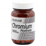 Health aid Chromium Picolinate Ειδικά συμπληρώματα, 1800mg 60tbs Allpharmacy Overespa
