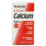 health aid Strong Calcium 600mg, Chewable 60tabs Δισκία για τον έλεγχο του νευρικού συστήματος Allpharmacy Overespa