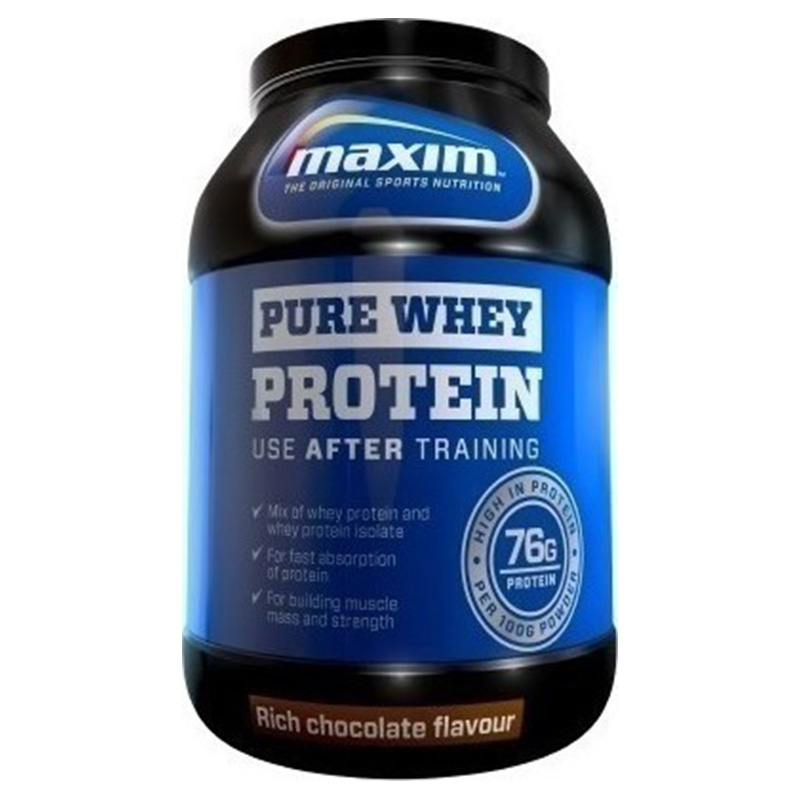 Maxim whey protein choco pure 750 gr -allpharmacy overespa