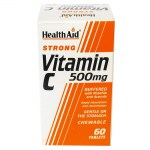 Health aid vit c 500mg rosehip chewable 60tabs - allpharmacy overespa