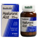 health aid Hyaluronic Acid Συμπληρώματα ομορφιάς, 55Mg 30Tabs Allpharmacy Overespa